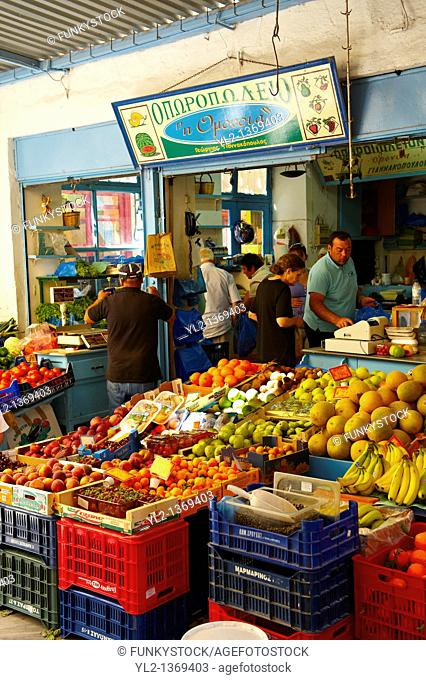 The Food Market, Ermoupolis, Syros Island  S  , Greek Cyclades Islands