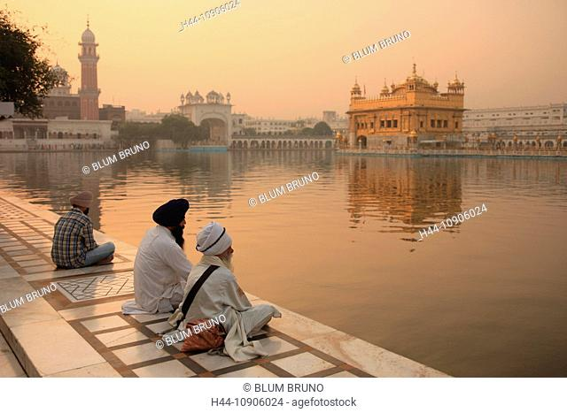 Golden Temple, Sikh, Amritsar, India, Asia, Punjab, Guru Arjun Dev, Sikhismus, Guru Nanak, spiritual center, Mahatma Gandhi, gold, meditation, turban, pilgrim
