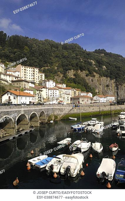 village and port of Elantxobe, Basque Country, Spain,