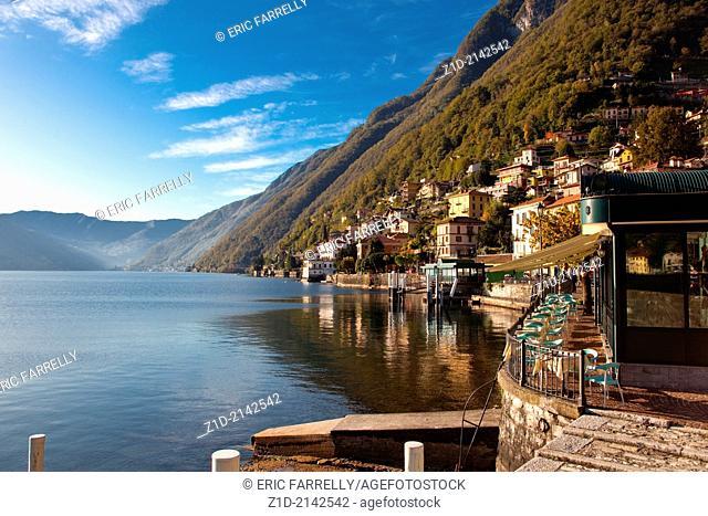 Lake Como .Lakeside images..Argegno