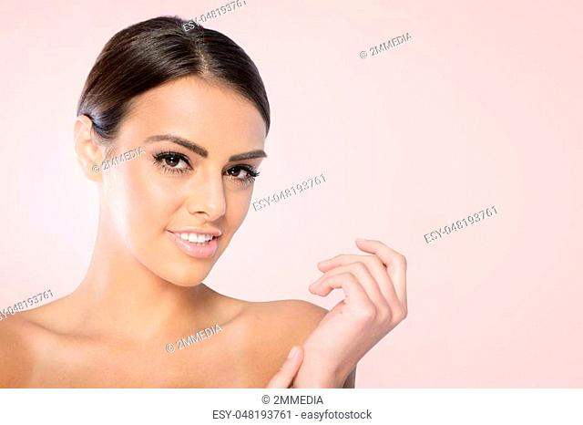 Beauty Spa Woman with perfect skin Portrait