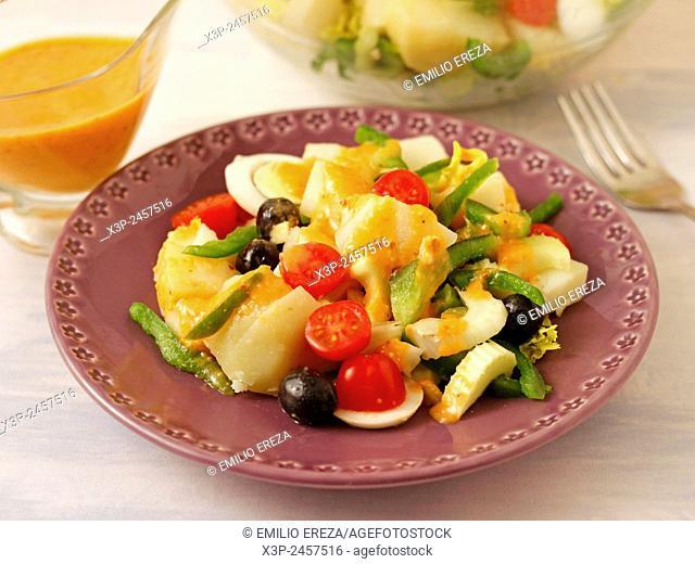 Potato salad with romesco sauce