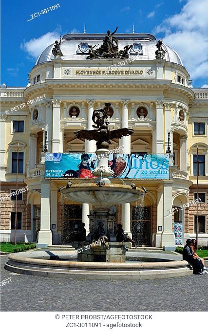 Slovak National Theatre on the Hviezdoslavovo Square in Bratislava - Slovakia