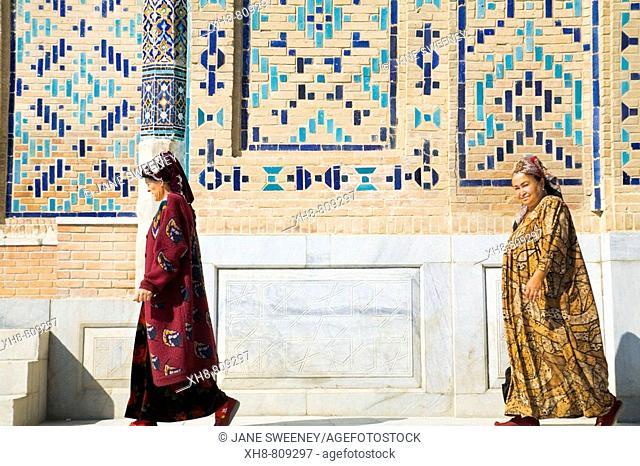 Shah-I-Zinder Necropolis, Samarkand, Uzbekistan