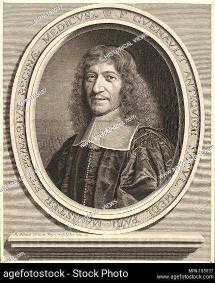 François Guénault. Artist: Robert Nanteuil (French, Reims 1623-1678 Paris); Date: ca. 1664; Medium: Engraving; Dimensions: Sheet: 12 3/16 x 9 15/16 in