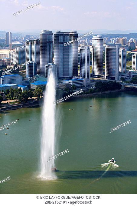 New Buildings Skyline, Pyongyang, North Korea