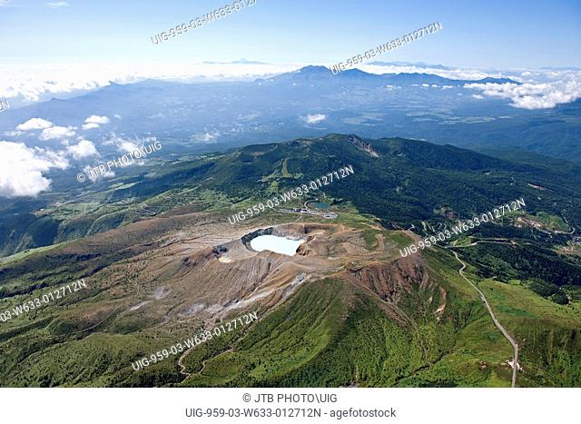Aerial view of Shirone Mt. Kusatsu Shirone Mt