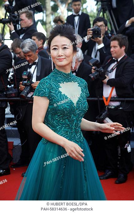 Chinese actress Zhao Tao attends the premiere of Standing Tall during the opening of the 68th Annual Cannes Film Festival at Palais des Festivals in Cannes