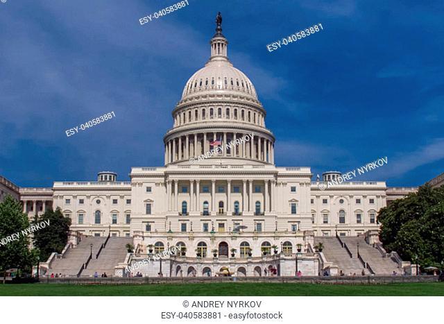 Washington, USA - June 23, 2017: Washington the white house. The symbol of America