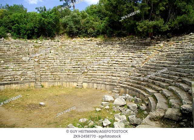 ruins of ampitheatre at Phaselis, Lycian way, Turkey