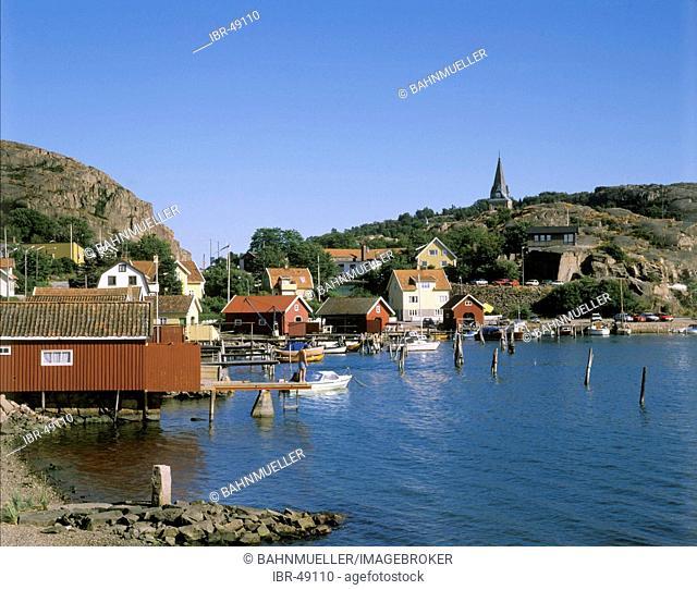 Fjallbacka Sweden at the skerry coast near Göteborg