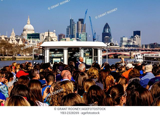 Thames River Cruise and City Skyline, London, England