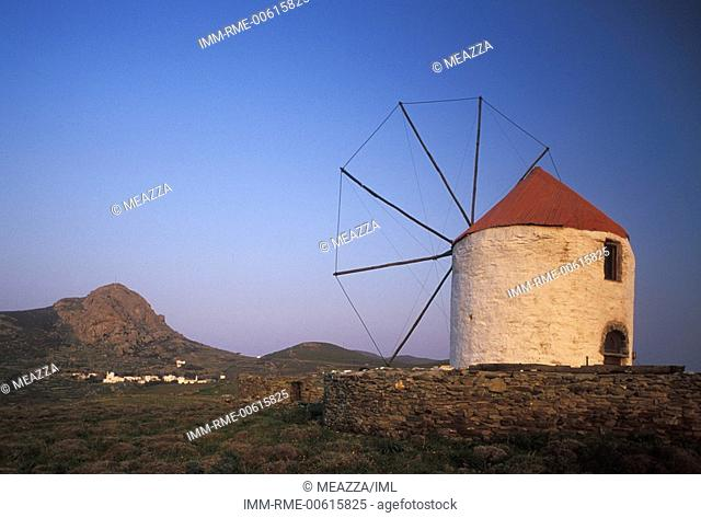 Exobourgo, windmill , Tinos, Cyclades, Greece