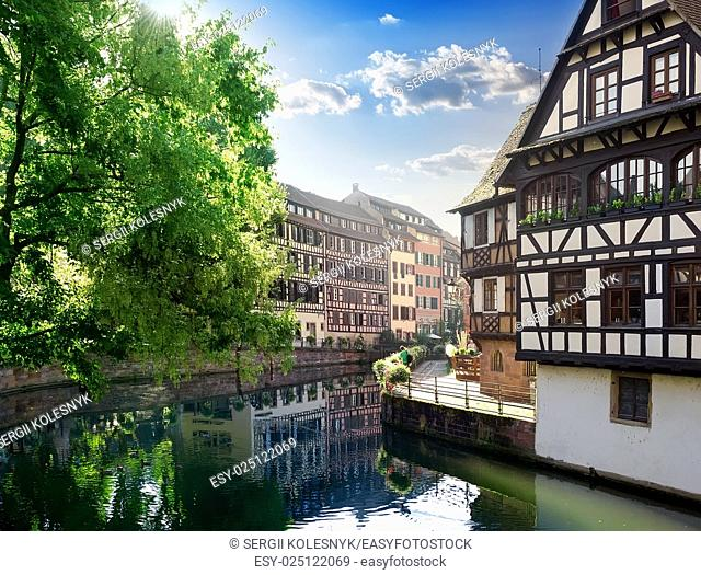 Traditional architecture of Strasbourg in France