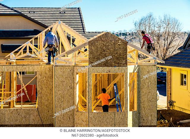 New home construction, Littleton, Colorado USA