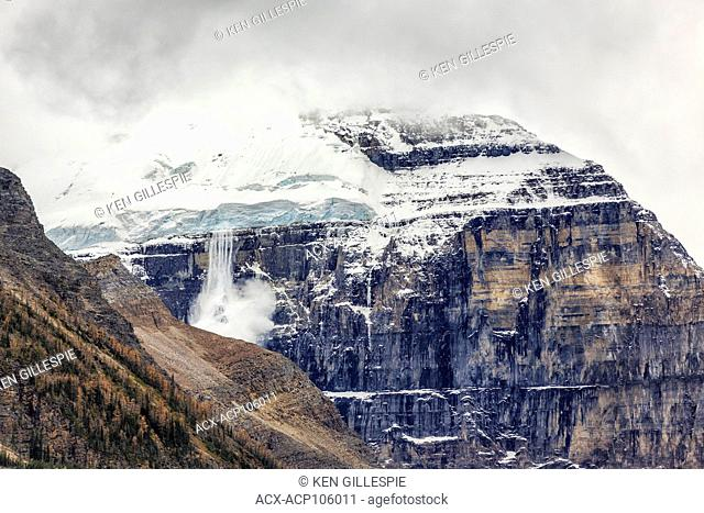 Avalanche in Banff National Park, Alberta, Canada