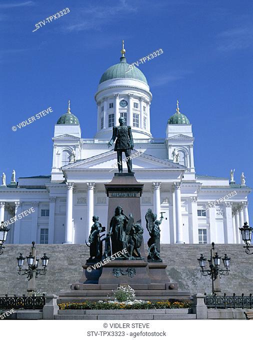 Cathedral, Finland, Europe, Helsinki, Holiday, Landmark, Senate square, Tourism, Travel, Vacation