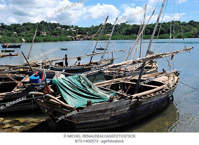 Africa, Madagascar, Nosy Be, Andoany, Hell-Ville, Port dhows