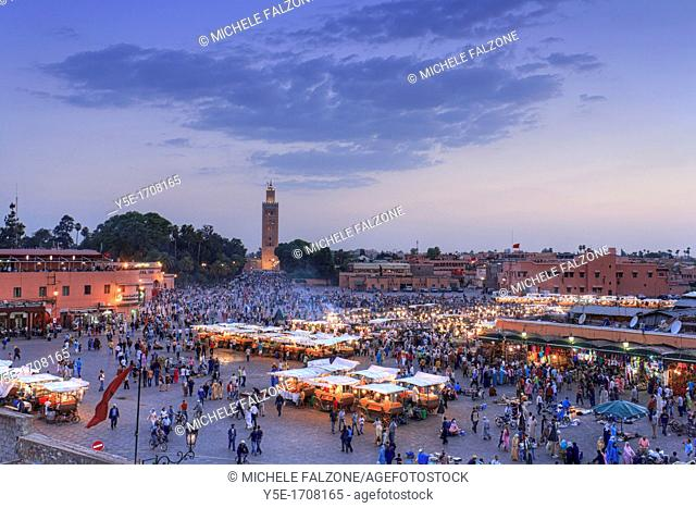 Morocco, Marrakech, Djemaa el-Fna Square