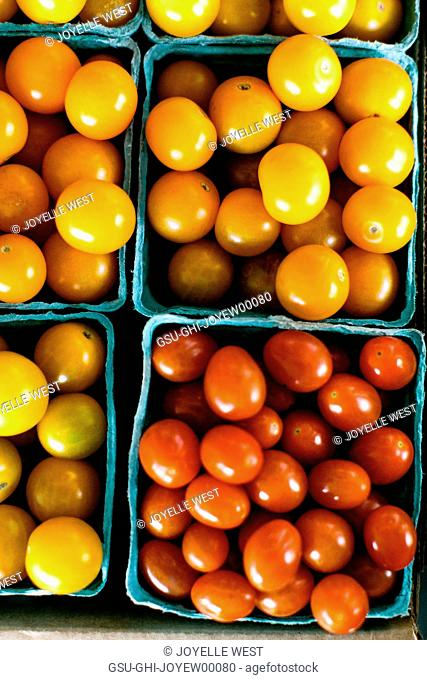 High Angle View of Cherry Tomatoes