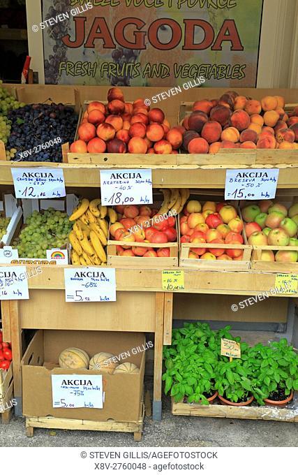 Fruit market stall, Hvar Town, Croatia, Dalmatia, Dalmatian Coast, Europe