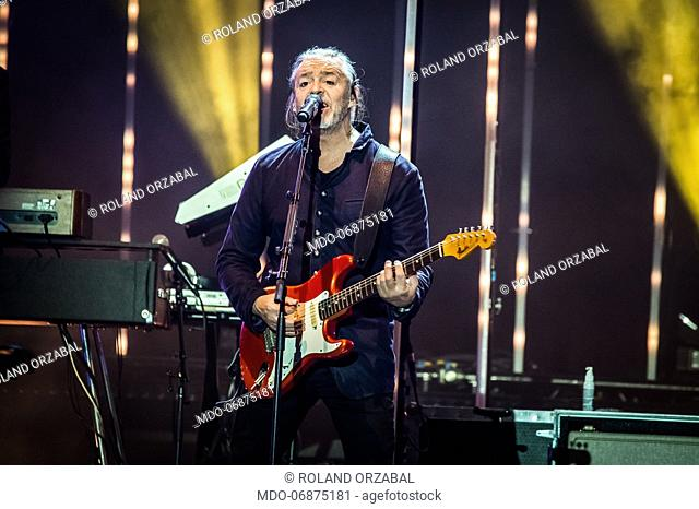 Roland Orzabal of the english new wave and pop rock band Tears For Fears performs live on stage at Mediolanum Forum. Milan (Italy), February 23rd, 2019