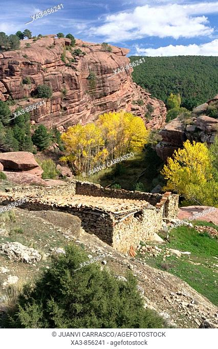Old house at Pinares de Rodeno protected area, Teruel province, Aragon, Spain