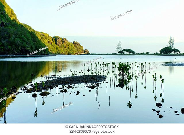 The bay of Le Morne Brabant (UNESCO World Heritate Site), Mauritius, Indian Ocean, Africa