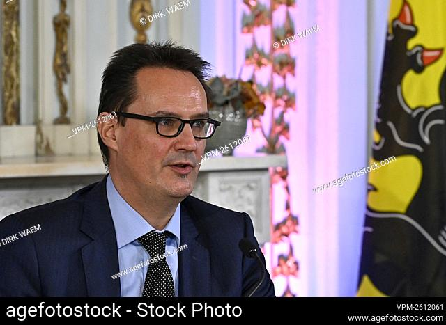 Danny Van Assche pictured during a press conference of the Flemish government on the 'De relance van de Vlaamse arbeidsmarkt', Monday 14 December 2020