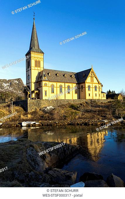 Scandinavia, Norway, Lofoten, Church of Svolvaer