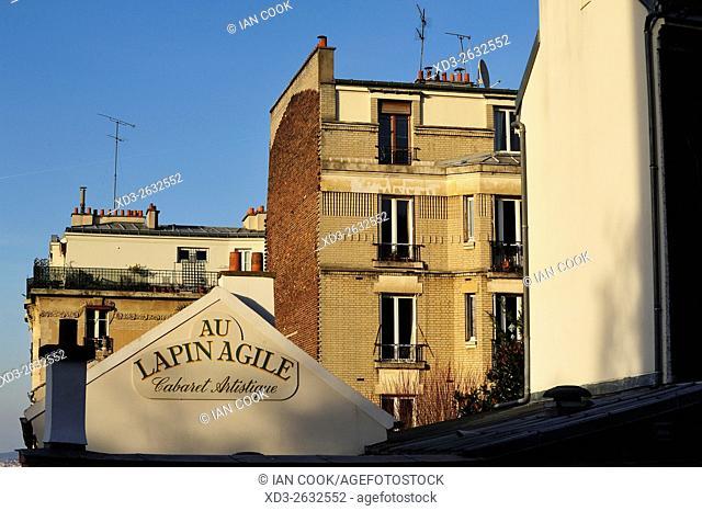 Au Lapin Agile Cabaret, Montmartre Neighbourhood, Paris, France