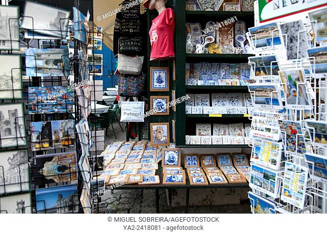 Curio Shops in Castelo de São Jorge Neighbourhood in Lisbon - Portugal