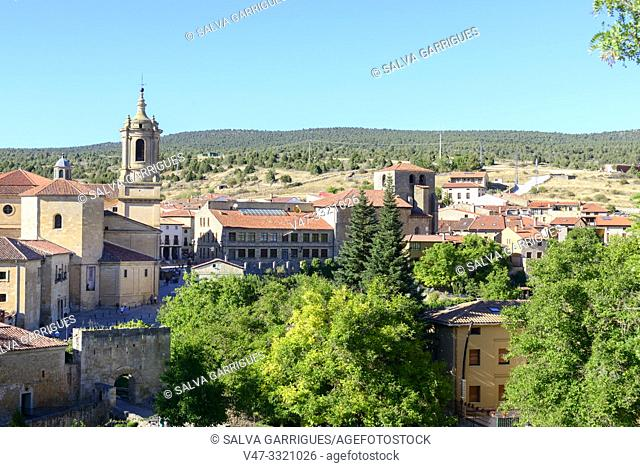 Panoramic of Santo Domingo de Silos, Burgos, Castilla y Leon, Spain