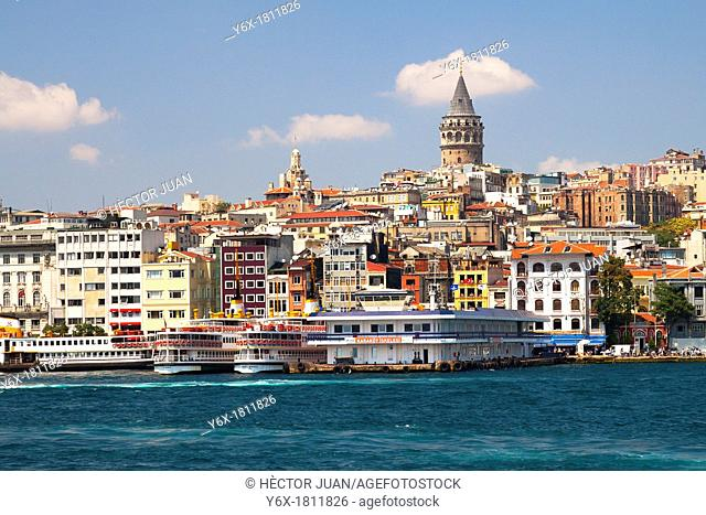 Galata tower from bosphorus