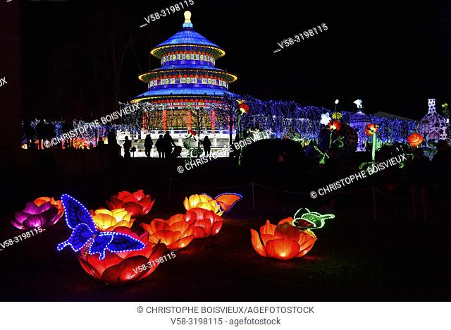 France, Tarn, Gaillac, Festival des lanternes (Chinese Lantern Festival). . The festival celebrates Chinese culture originating from the Tang Dynasty (AD...