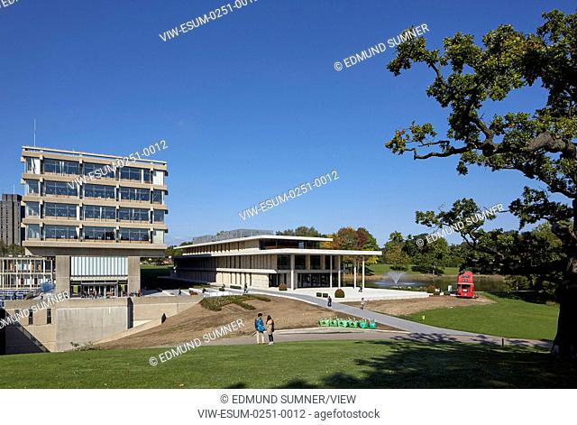 Silberrad Student Centre overall view. Albert Sloman Library and Silberrad Student Centre University of Essex, Colchester, United Kingdom