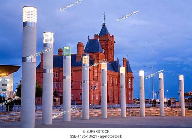 Pierhead Building in Cardiff Bay, Wales, United Kingdom, Great Britain, Europe