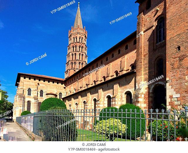 Basilique Saint Sernin. Toulouse.Haute Garonne.France