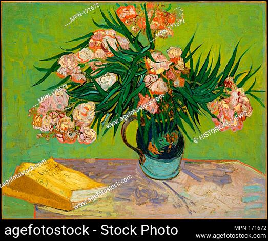 Oleanders. Artist: Vincent van Gogh (Dutch, Zundert 1853-1890 Auvers-sur-Oise); Date: 1888; Medium: Oil on canvas; Dimensions: 23 3/4 x 29 in. (60