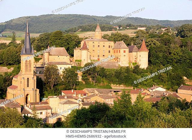 France, Rhone, Beaujolais région, Jarnioux castle