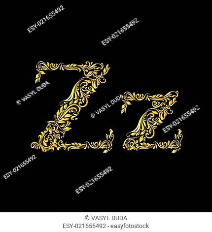 Decorated letter 'z'