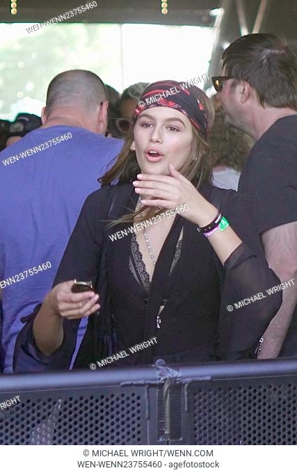 Coachella 2016 - Week 1 - Day 1 - Celebrity Sightings Featuring: Kaia Gerber Where: Los Angeles, California, United States When: 15 Apr 2016 Credit: Michael...