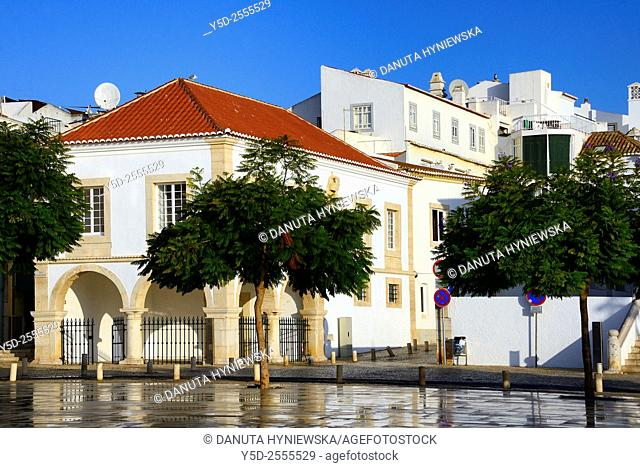 Europe, Portugal, Algarve, Faro district, Lagos, old town, Praca Infante Dom Henrique, Infante dom Enrique Square, historic slave market - the first in Europe