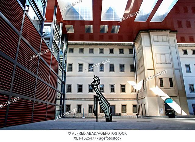 Reina Sofia art center, 1986-2005, architect: Jean Nouvel, Madrid, Spain