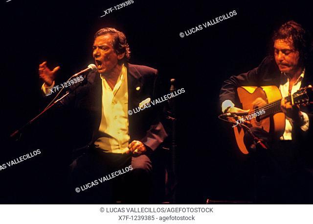 `Chocolate'  Flamenco Singer  Lope de Vega theatre  Seville, Andalusia, Spain