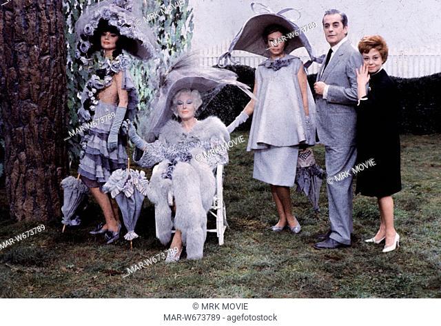 caterina boratto, luisa della noce, sylva koscina, giulietta masina, mario pisu, giulietta degli spiriti, 1965