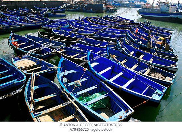 Fischerboote in Agadir Morocco