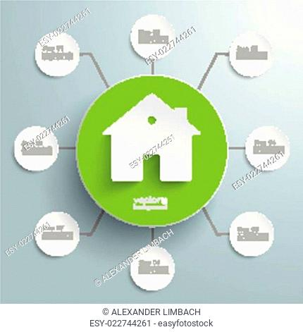 House Green Circle 8 Options