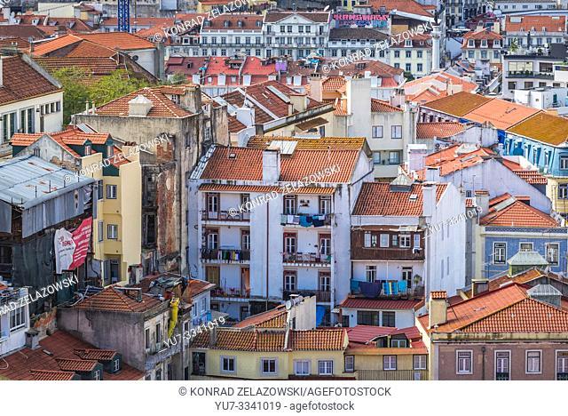 Houese in Graca neighbourhoods of Lisbon, Portugal