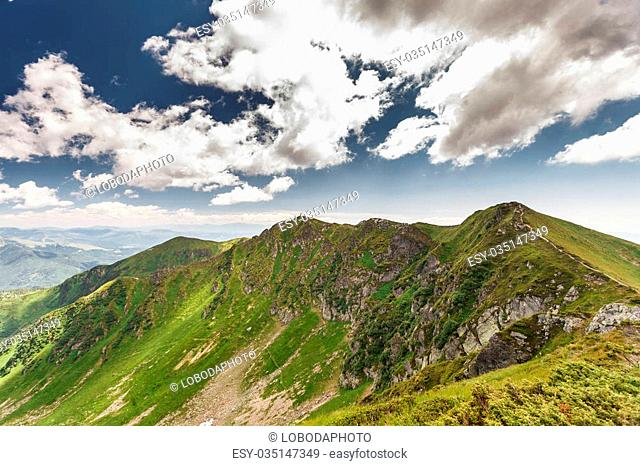 mountains in summer Ukrainian Carpathian Mountain